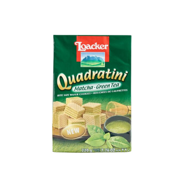 Loacker Quadratini Matcha Green Tea Wafers