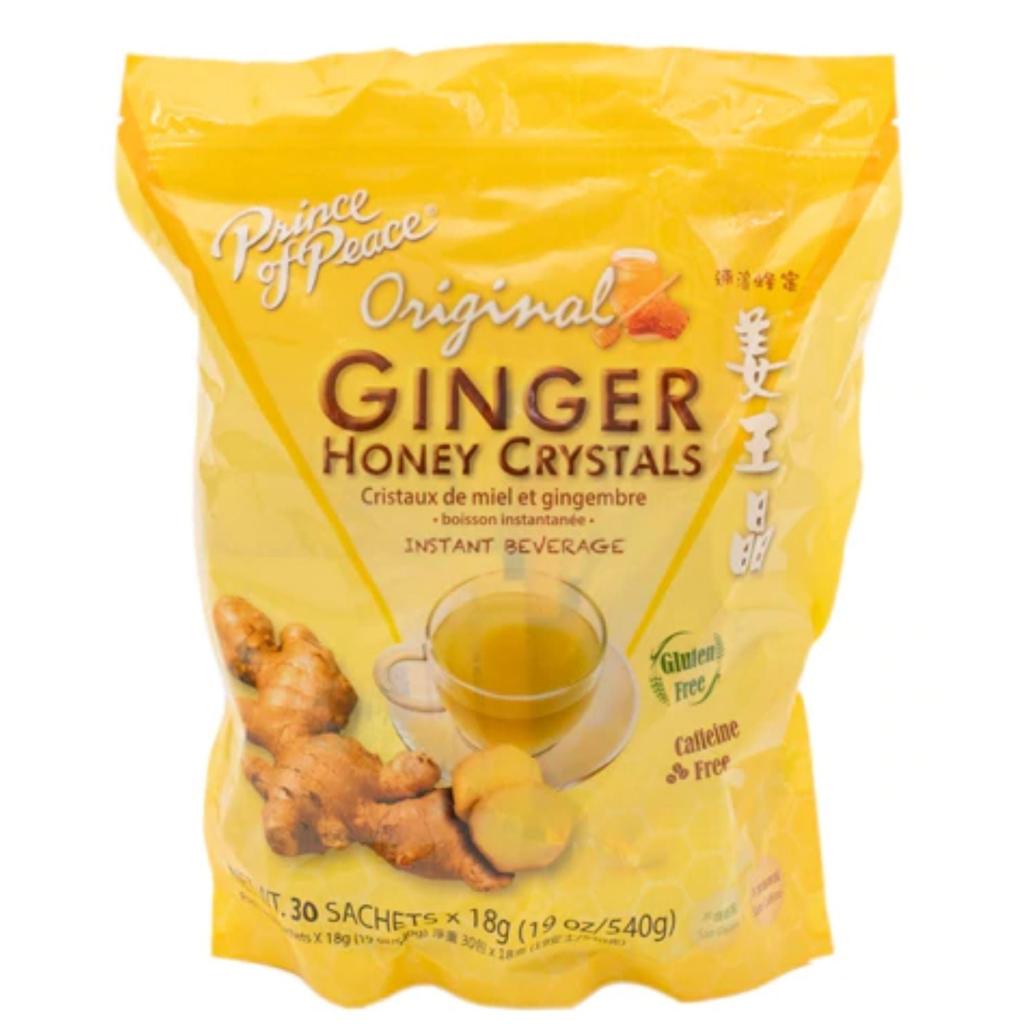 Prince of Peace Original Ginger Honey Crystals Instant Beverage