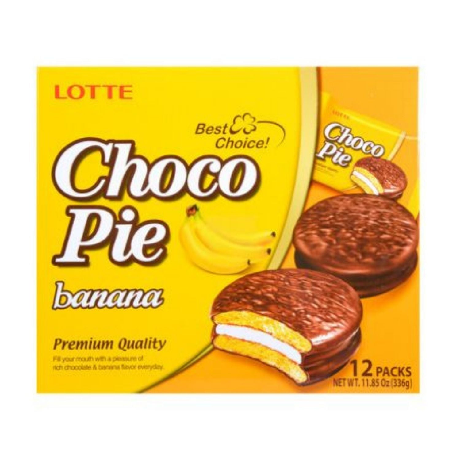 Lotte Banana Choco Pie (12 packs)