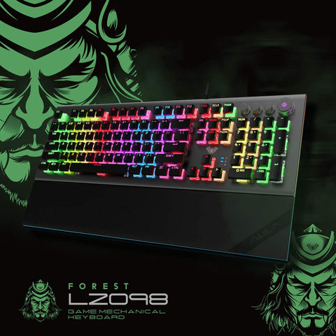 AULA L2098 RGB Mechanical Gaming Keyboard | 104-Key | Tactile Crystal Switches