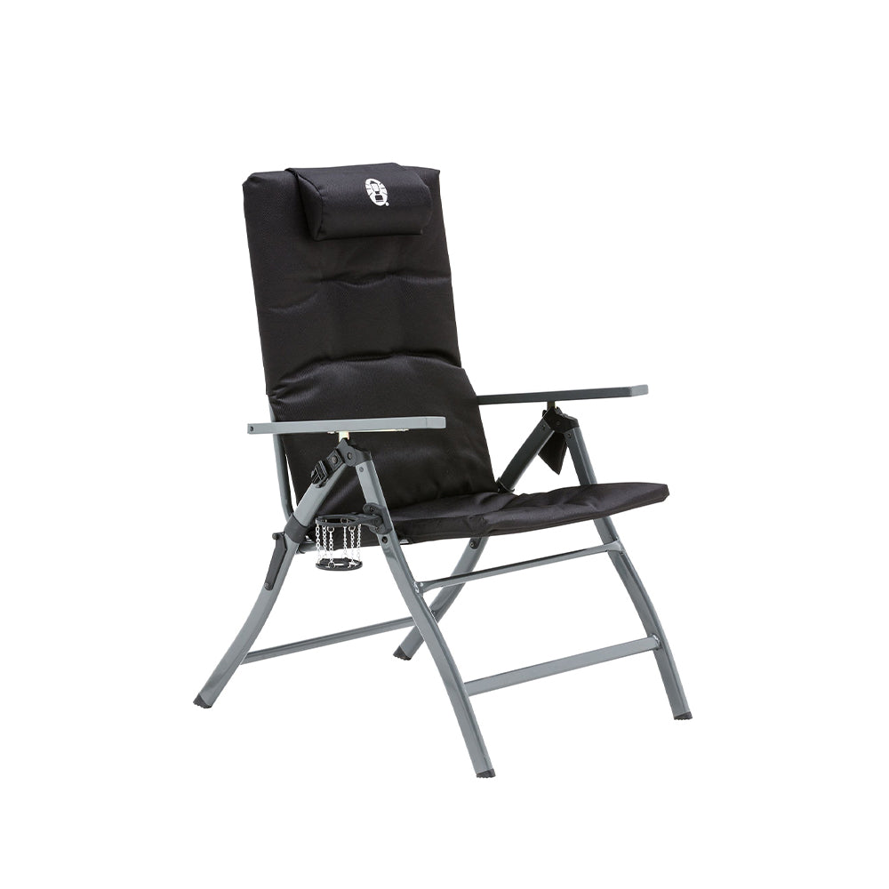 Coleman 5 Position Padded Chair Black 130kg