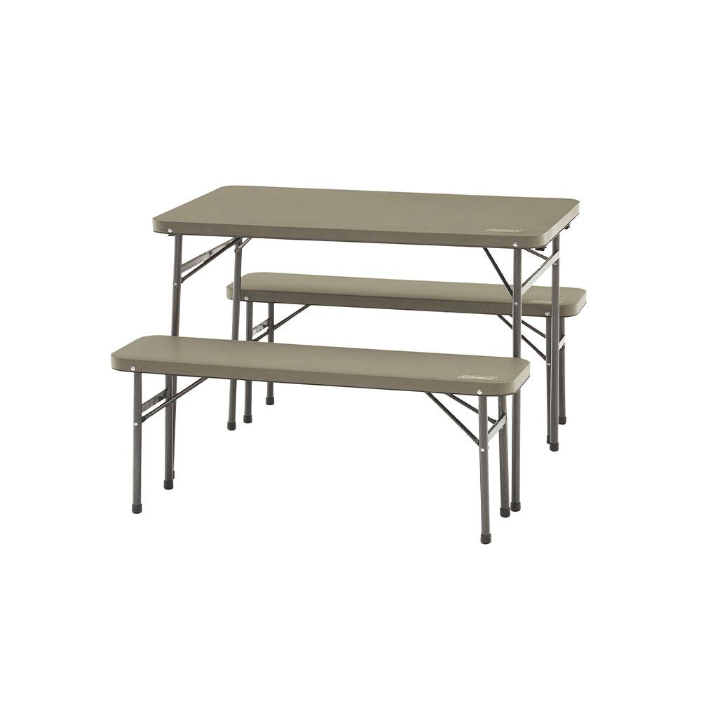 Coleman Folding Table & Bench