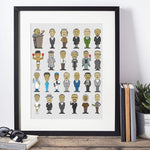 Load image into Gallery viewer, 25 Black Men Figures in History Vertical Posters For the Home or Office - MelaninBabesApparel
