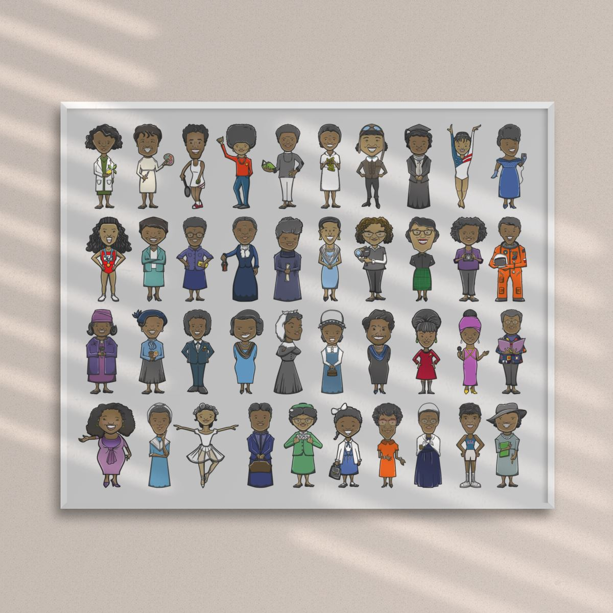 40 Black Women History Makers Premium Horizontal Poster - Multi-sizes - MelaninBabesApparel