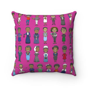 40 Influential Black Women Icon in History Pillow - MelaninBabesApparel