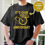 Load image into Gallery viewer, Personalized It's Our Anniversary Shirt - MelaninBabesApparel