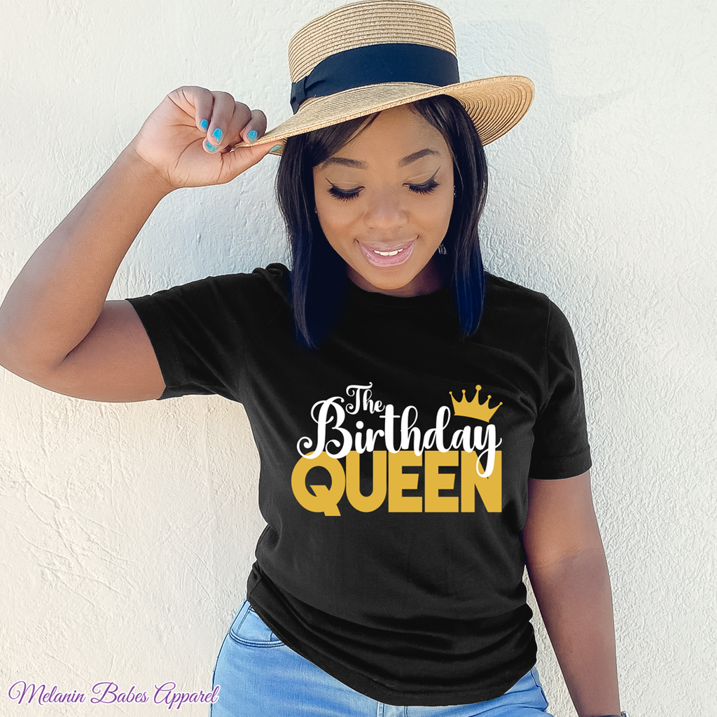 The Birthday Queen Party Shirt - MelaninBabesApparel