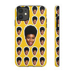 Load image into Gallery viewer, Personalized Face Tough Phone Cases - iPhones and Androids. Matte/Glossy - MelaninBabesApparel
