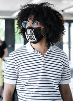 Load image into Gallery viewer, Black King Fabric Face Mask - MelaninBabesApparel