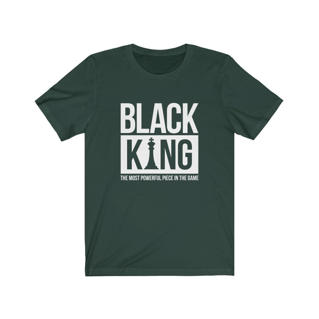 Black King T-Shirt - Most powerful piece in the game - MelaninBabesApparel