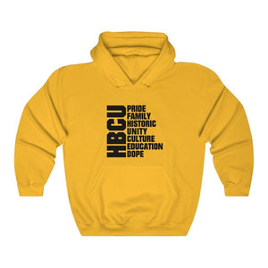 HBCU Means Pride, Unity, Family, Culture Hoodie - MelaninBabesApparel