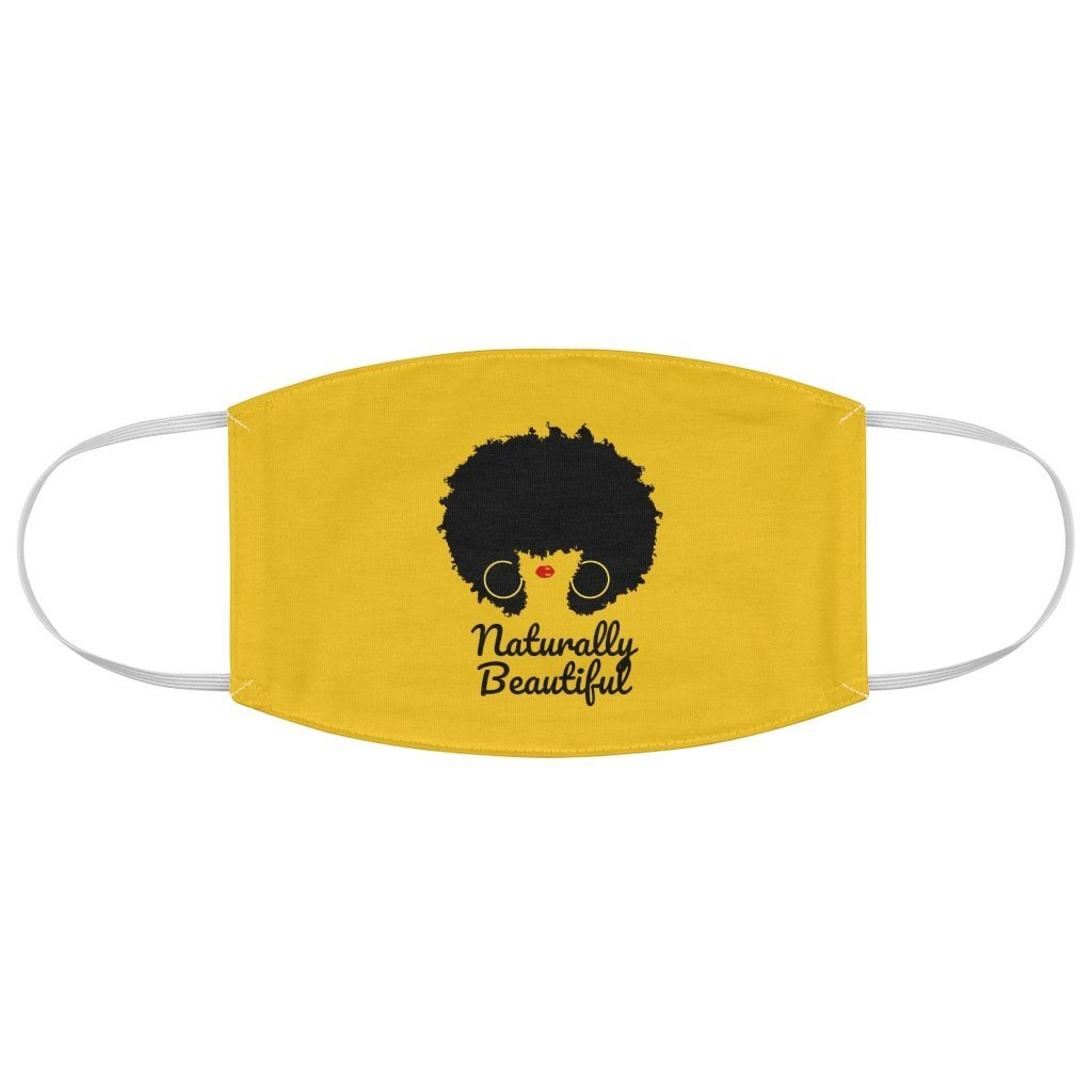 Naturally Beautiful Afro Hair Fabric Face Mask - MelaninBabesApparel
