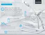 Evolve Multifunction Handshower