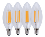 Simply Conserve 4-Watt Vintage Filament Candelabra LED - Clear (4 pack)