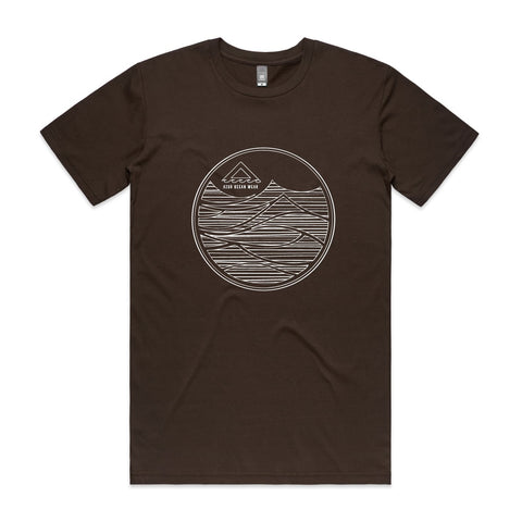 Men Groundswell Tee - Chocolate