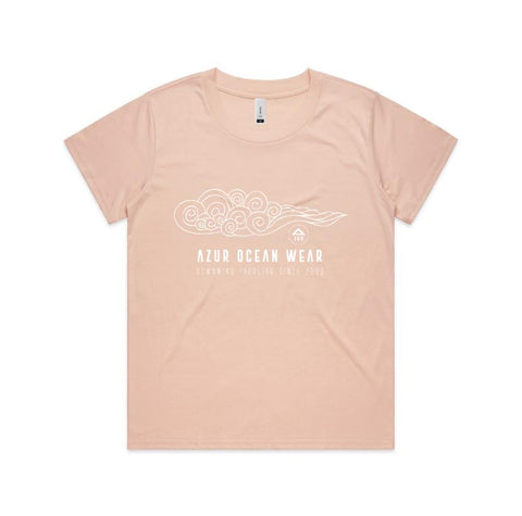 Women Curls Tee - Pale pink