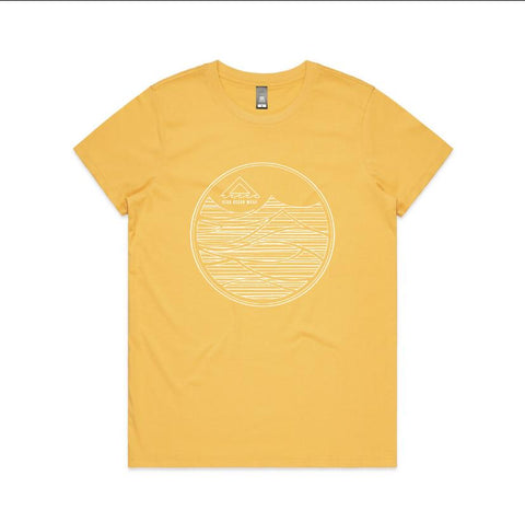 Women Groundswell Tee - Yellow