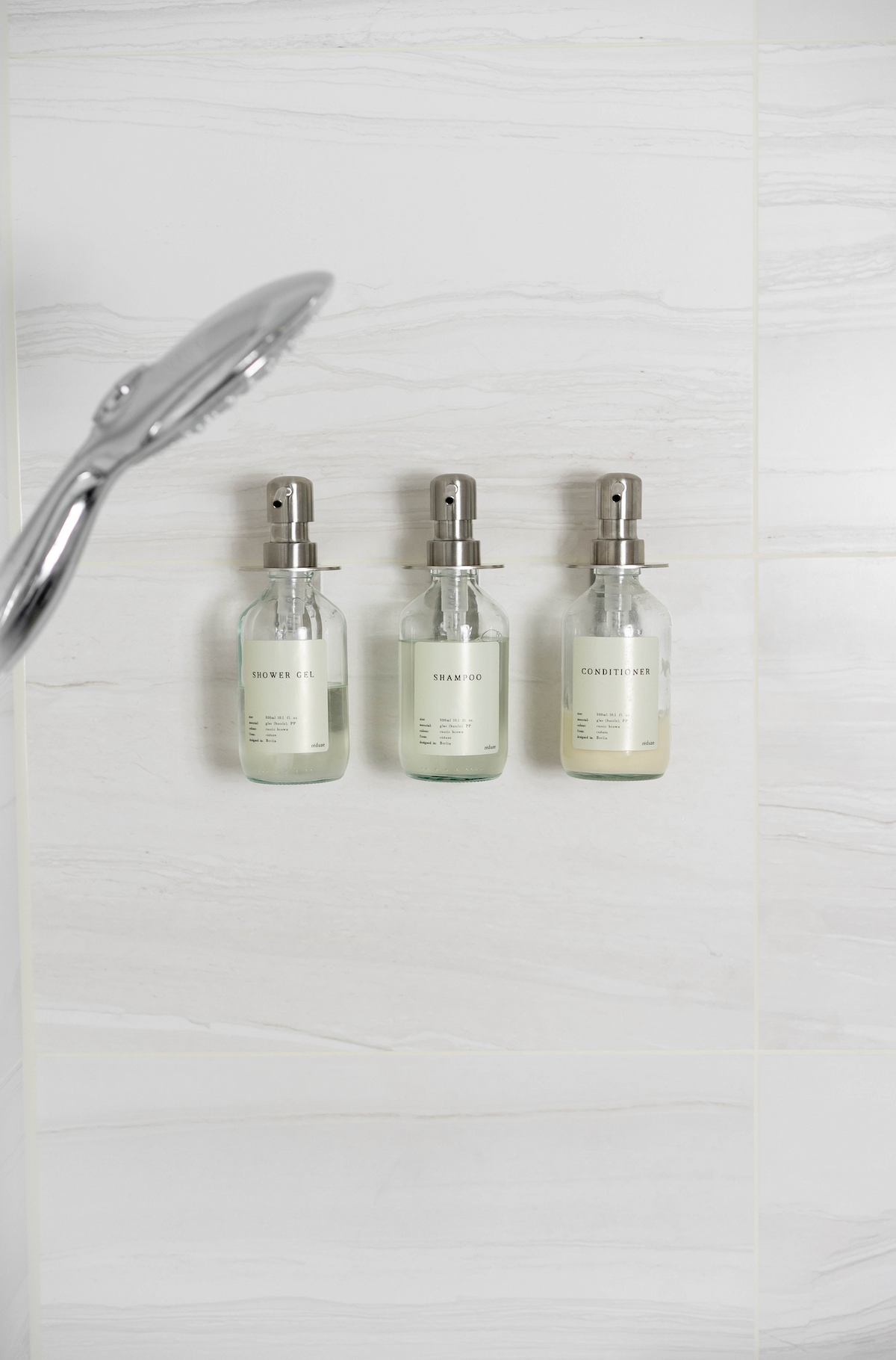 """CARE""-Trio in der Dusche - Stainless Steel"