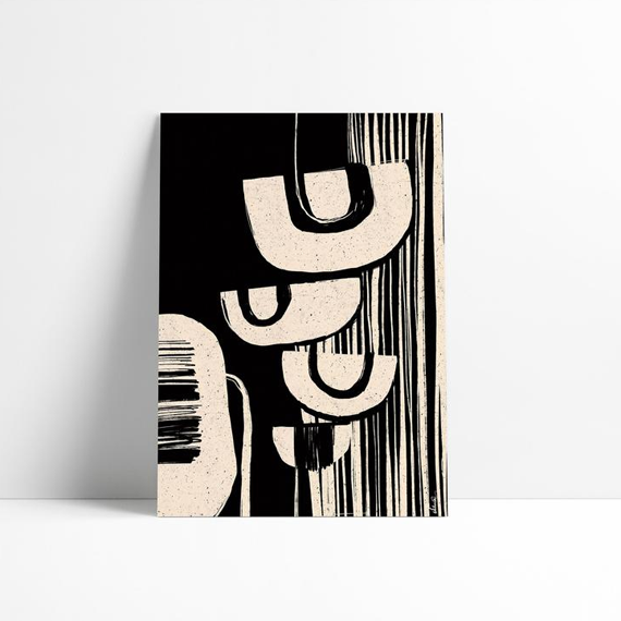 Black & White Patterns | Minimalist Print Art - soulcurryart