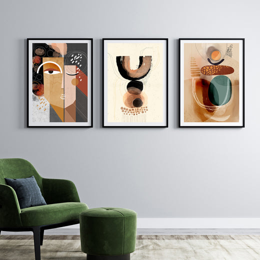 Earth Gallery Wall set of 3 - SoulCurryArt