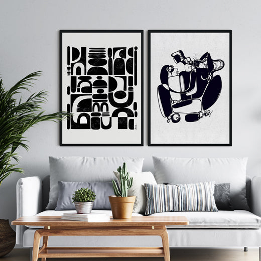Fragmented Entangled- Set of 2 prints - soulcurryart