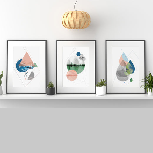 Elemental Gallery Wall set of 3 - SoulCurryArt