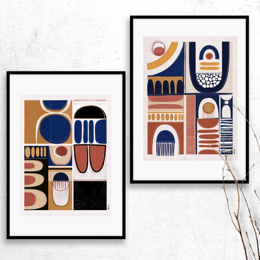 Interplay- Set of 2 prints - soulcurryart
