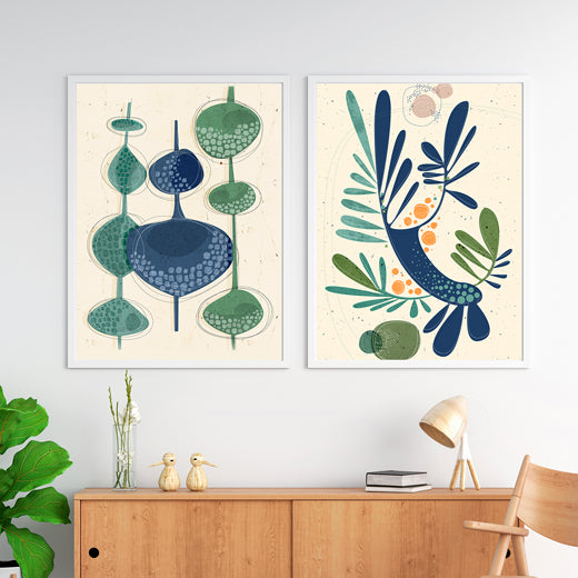 Nordic Trees - Set of 2 prints - soulcurryart
