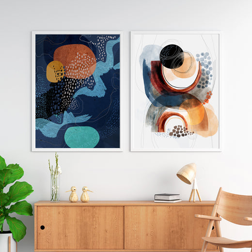 Midnight Mountains - Set of 2 prints - soulcurryart