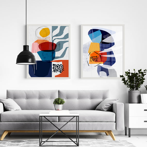 Mid Century - Set of 2 prints | soulcurryart