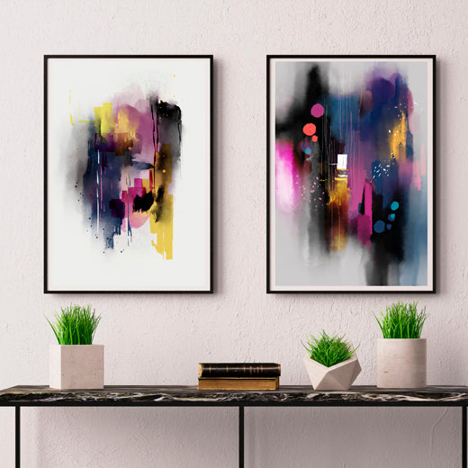 Rain - Set of 2 prints - soulcurryart