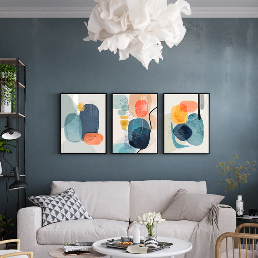 Rocks Gallery Wall set of 3 - SoulCurryArt