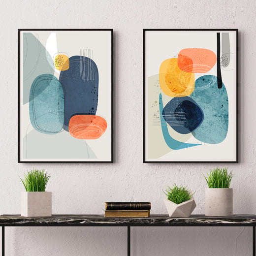 Rocks Duo - Set of 2 prints - soulcurryart