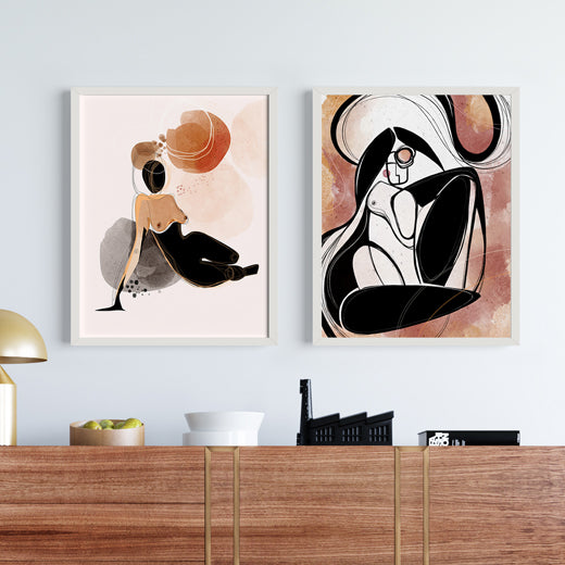 Silhouettes - Set of 2 prints - soulcurryart