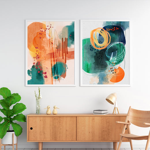 Sunset Moon- set of 2 prints - soulcurryart