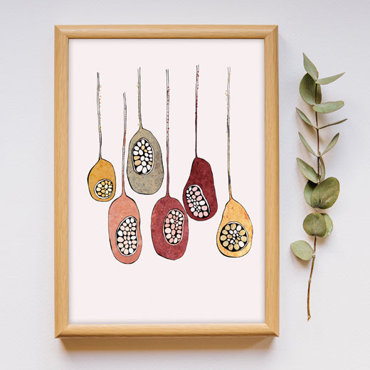 Seed Pods - Set of 2 Prints - soulcurryart