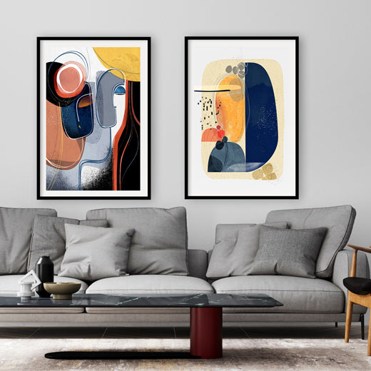 Trysts - Set of 2 large prints - SoulCurryArt