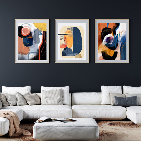 Island Tryst Gallery Wall set of 3 - SoulCurryArt
