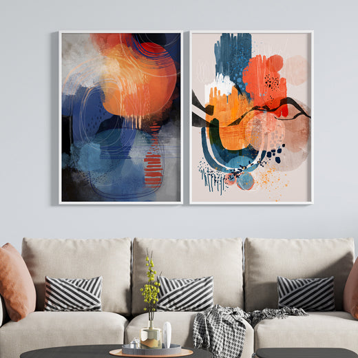 Tangerine Wave - Set of 2 prints - soulcurryart