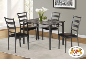 Marble look pub table with 4 chairs