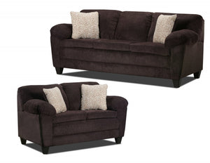 Ellie Chocolate 2 piece Sofa and love set