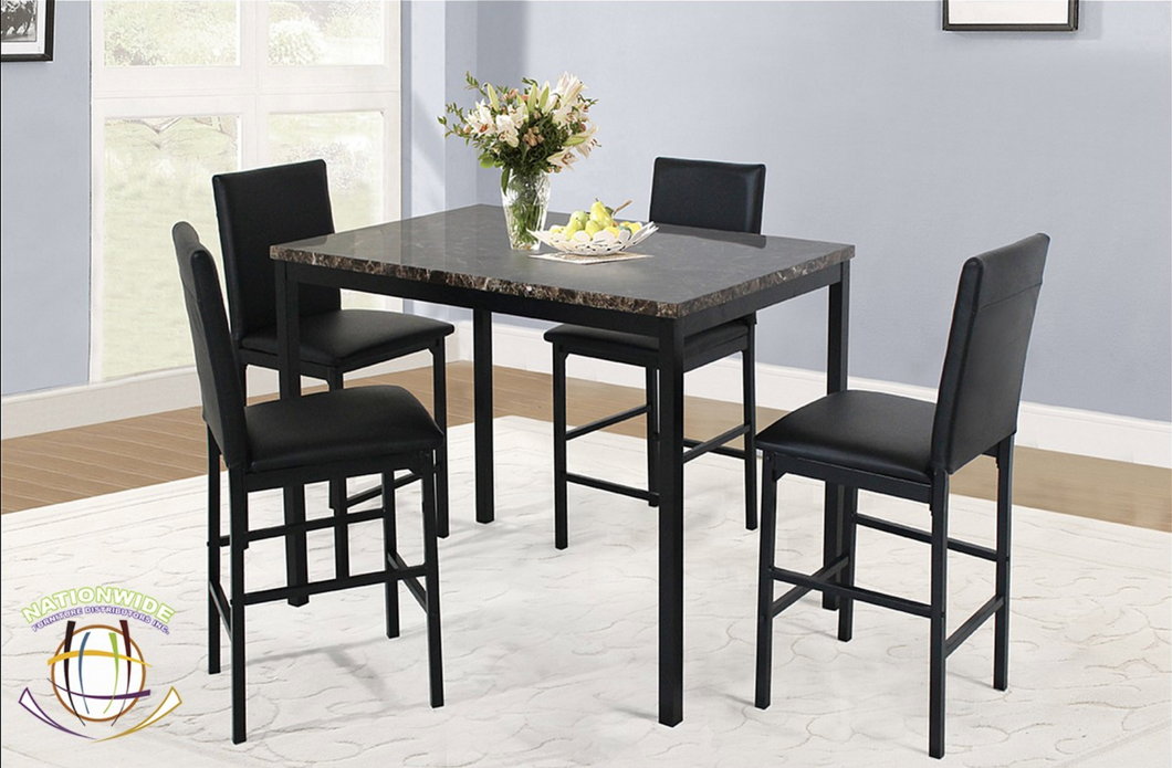 Marble look table with 4 chairs