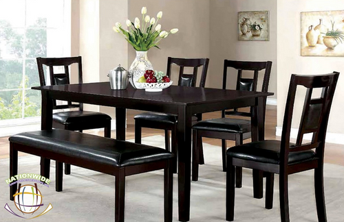 Contemporary Style Dinette 6 PC Table Set