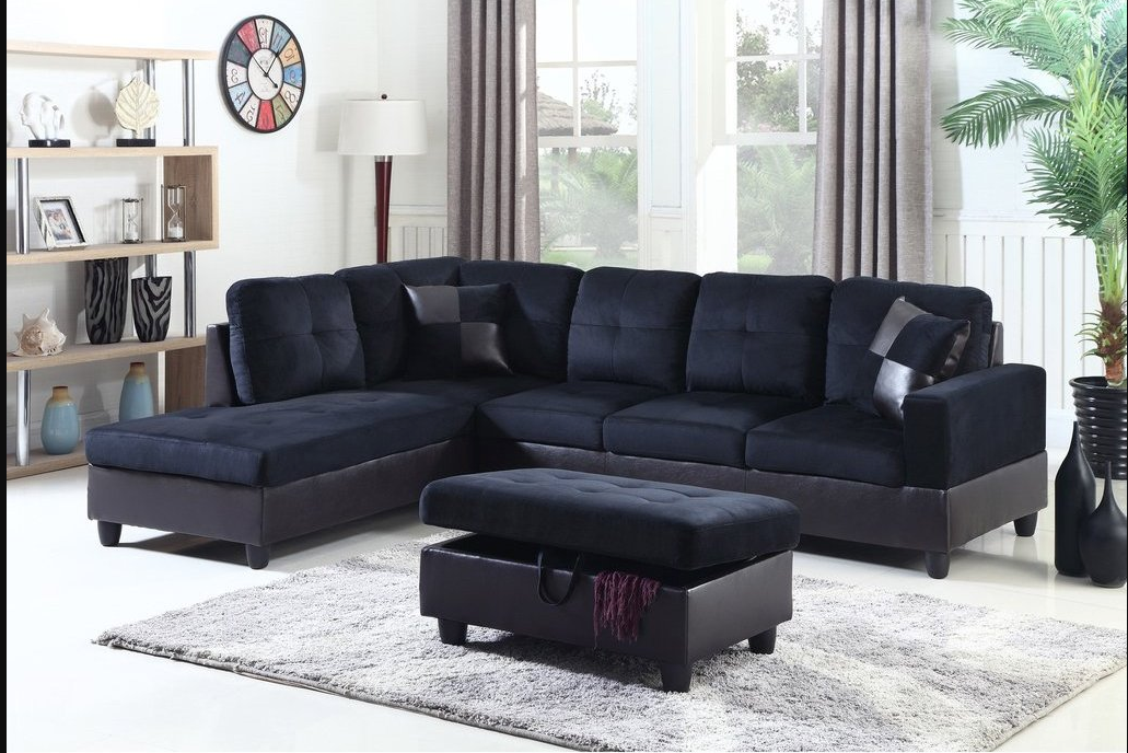 3 piece sectional with storage ottoman