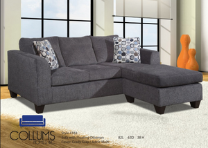 2 piece dark sectional