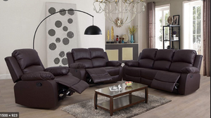 3 piece sofa, love-seat, and chair recliner set