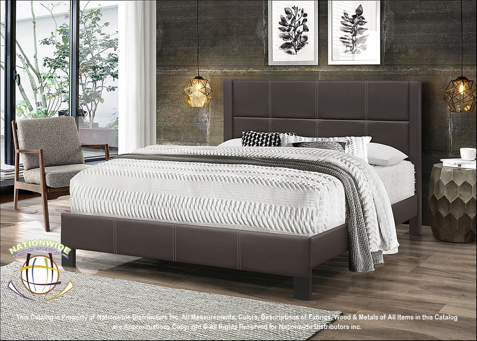 Luxurious Black Bed (available in brown)