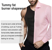 Load image into Gallery viewer, Men Shapewear Slimming Body Shaper Compression Shirt Tank top with Zipper Underwear for Tummy Control