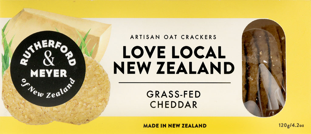Love Local NZ Oat Crackers – Grass-Fed Cheddar