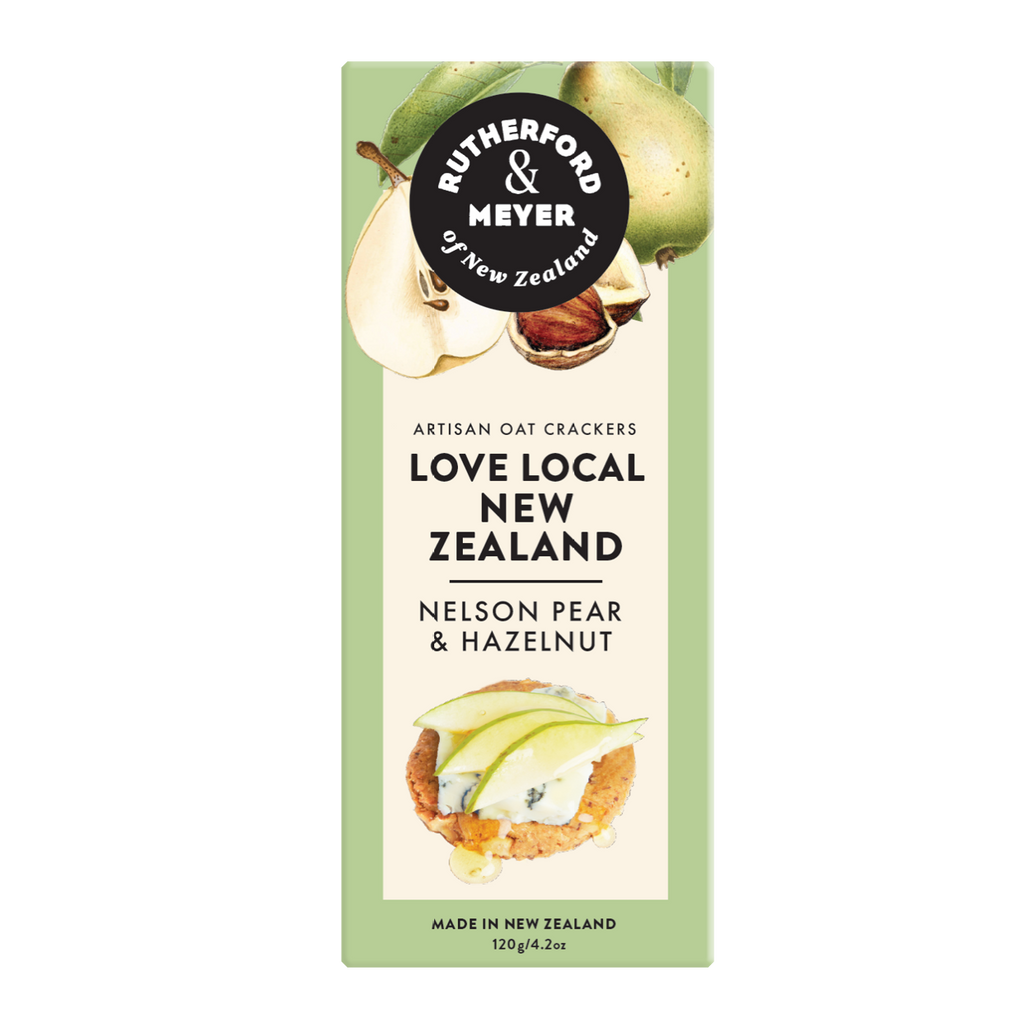Love Local NZ Oat Crackers – Nelson Pear & Hazelnut